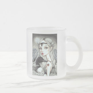 Great Loona Frosted Glass Coffee Mug