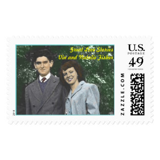 Great love, Great Love StoriesVin and Natalie F... Stamp