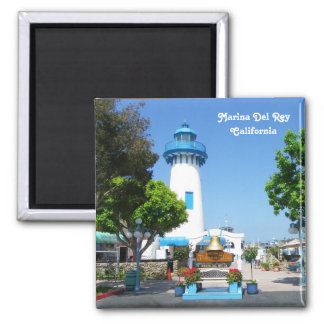 Great Marina Del Rey Magnet! 2 Inch Square Magnet