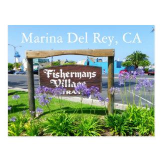 Great Marina Del Rey Postcard! Postcard