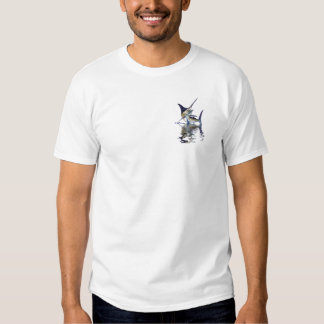 Great marlin with reflection in water tshirts