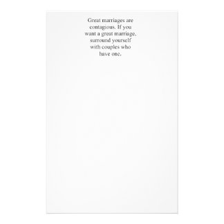 GREAT MARRIAGES ARE CONTAGIOUS PERSONALIZED STATIONERY