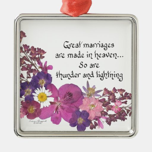 Great marriages are made in heaven! christmas ornaments