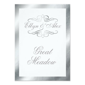 GREAT MEADOW Swirly Flourish Table Card | silver