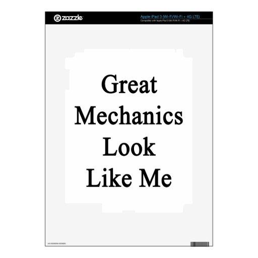 Great Mechanics Look Like Me Decals For iPad 3