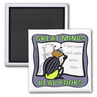 Great Minds Read Books Refrigerator Magnets
