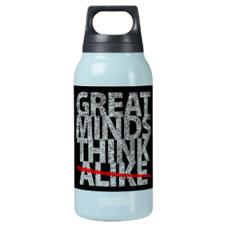 Great Minds Think Alike 10 Oz Insulated SIGG Thermos Water Bottle