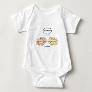 Great Minds Think Alike Baby Bodysuit