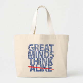 Great Minds Think Alike Canvas Bags