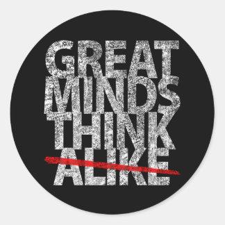 Great Minds Think Alike Classic Round Sticker