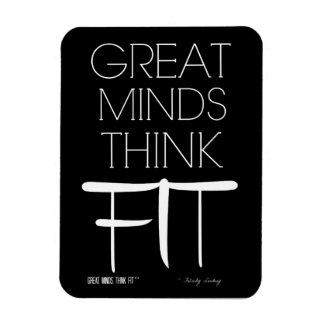 Great Minds Think Fit Magnet in Black
