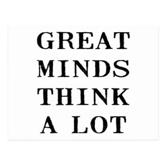 Great Minds Think Postcard