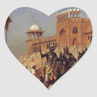 Great Mogul And His Court Returning From The Great Heart Sticker