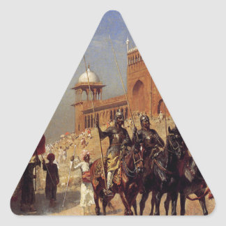 Great Mogul And His Court Returning From The Great Triangle Sticker