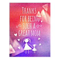great mom postcard