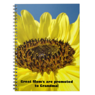 Great Mom s are Promoted to Grandma notebooks