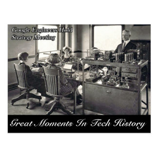 Great Moments In Tech History - Postcard