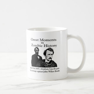 Great Moments in Zombie History Classic White Coffee Mug