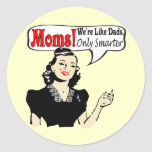 Great Mothers Day Gifts Round Stickers