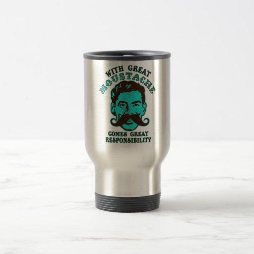 Great Moustache 15 Oz Stainless Steel Travel Mug