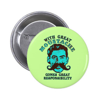 Great Moustache 2 Inch Round Button