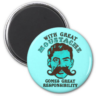 Great Moustache 2 Inch Round Magnet