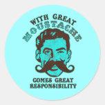 Great Moustache Classic Round Sticker