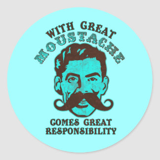 Great Moustache Classic Round Sticker