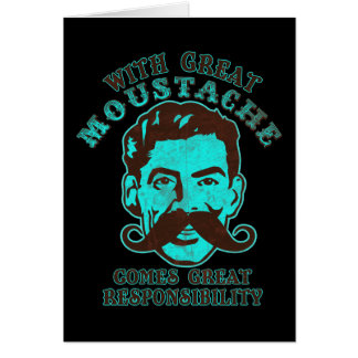 Great Moustache Greeting Cards