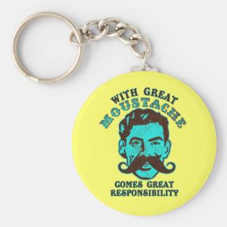 Great Moustache Keychain