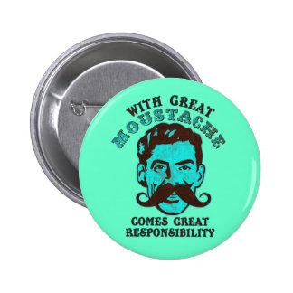 Great Moustache Pinback Button