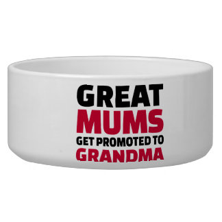 Great mums get promoted to Grandma Pet Food Bowls