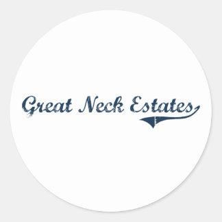 Great Neck Estates New York Classic Design Round Sticker