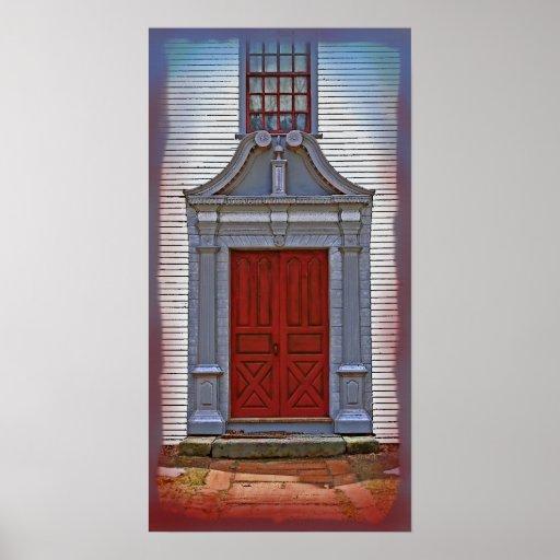 Great New England Doors #1 (Premium Canvas) Poster