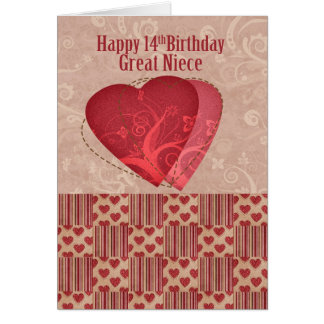 Great Niece 14th Birthday With Country Style Greeting Card