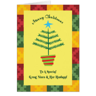 Great Niece & Her Husband Primsy Christmas Card