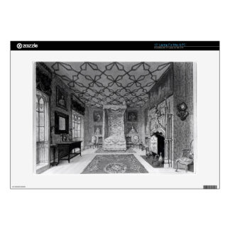 "Great North Bed Chamber of Strawberry Hill (litho) 15"" Laptop Skin"