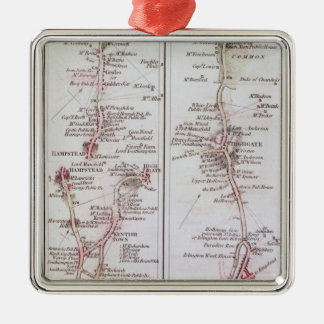 Great North Road out of London, 1st July 1790 Metal Ornament