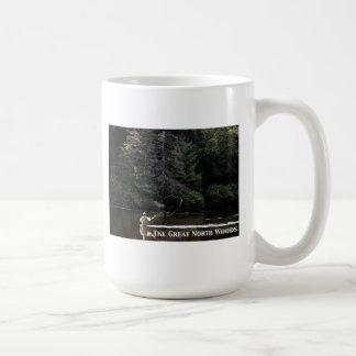 Great North Woods Mug, Flyfishing Classic White Coffee Mug