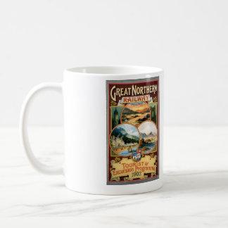 great northen railway tourist excursion programme coffee mug