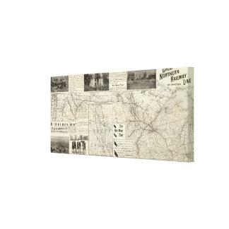 Great Northern Railroad line Canvas Print
