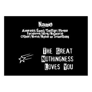 Great Nothingness Loves You Large Business Card