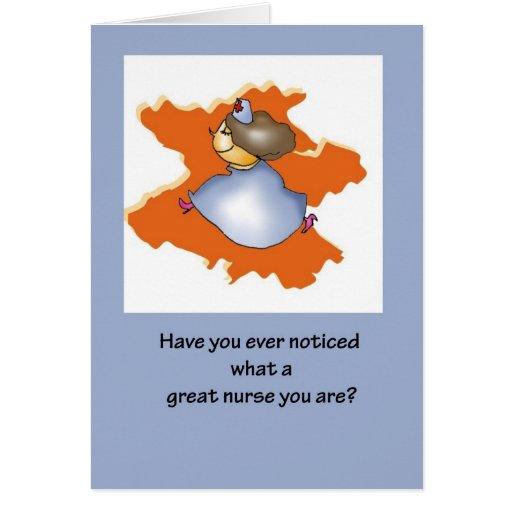 Great Nurse on Nurses Day Greeting Card