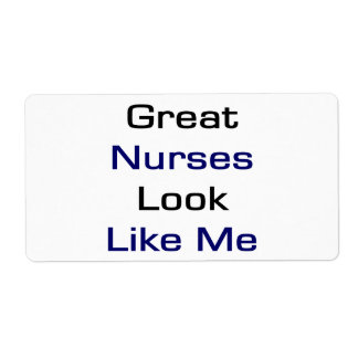 Great Nurses Look Like Me Shipping Label