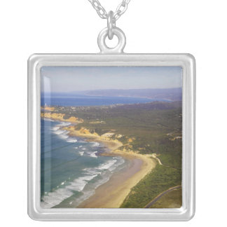 Great Ocean Road and Split Point Lighthouse, Silver Plated Necklace