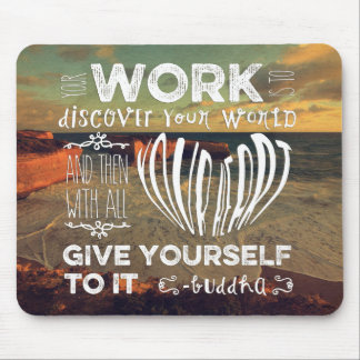 Great Ocean Road Your Work Discover World Heart Mousepad