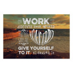 Great Ocean Road Your Work Discover World Heart Poster