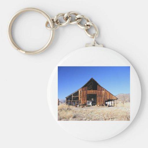 Great Old Barn Basic Round Button Keychain