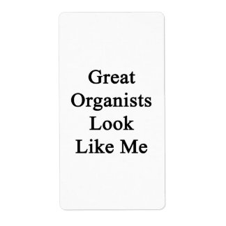 Great Organists Look Like Me Shipping Label