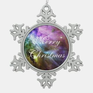 Great Orion Nebula Snowflake Pewter Christmas Ornament